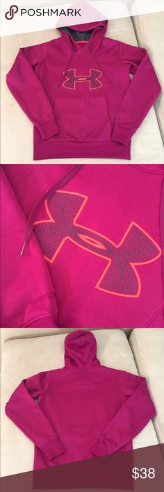 NWOT!! Under Armour Hoodie NEW WITHOUT TAG!! Under Armour Hoodie. Size S. Storm . Cold gear. Semi fitted. Drawstring hood and front pockets. 100% polyester. PERFECT CONDITION!! No trades Under Armour Tops Sweatshirts & Hoodies