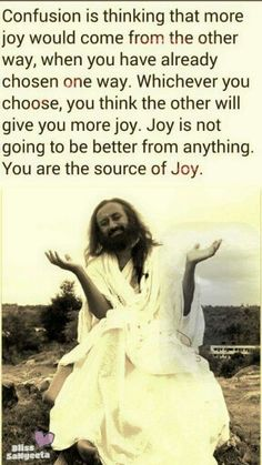 #SriSri Hindi Quotes, Wisdom Quotes, Quotes To Live By, Best Quotes, Art Of Living, Good Thoughts, True Words, Personal Development, Quote Of The Day