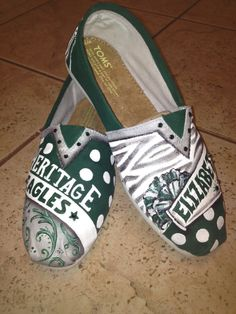 School Spirit Shoes hand painted TOMS by solespirit on Etsy, $120.00