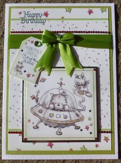 Hunkydory Handmade Card - Smudge and Mitten Birthday