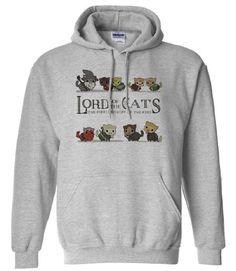 Lord of the Rings Cats Hoodie Hooded Sweatshirt