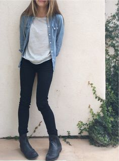 ootd: Striped shirt - billabong Denim shirt - American eagle Jeans - h&m Boots - me too