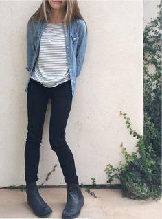 ootd: Striped shirt - billabong Denim shirt - American eagle Jeans - h&m Boots - me too