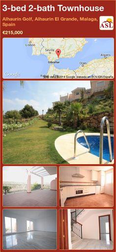 3-bed 2-bath Townhouse in Alhaurín Golf, Alhaurin El Grande, Malaga, Spain ►€215,000 #PropertyForSaleInSpain