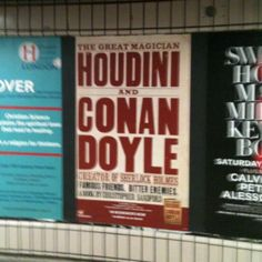 Houdini and Conan Doyle at baker st