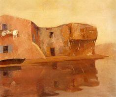 .:. Οικονόμου Μιχαήλ – Michail Oikonomou [1888-1933] Σπίτια κοντά στο νερό 2