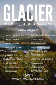 Easy Hikes In Glacier National Park (Photos, Maps, and Trail Details) - The Mandagies - Hikes in Glacier National Park are some of the most beautiful and scenic trails in Montana! Click h - Glacier National Park Montana, Yellowstone National Park, Glacier Montana, Glacier Np, Yellowstone Vacation, Grand Teton National, Adventure Time, Adventure Bucket List, Adventure Quotes