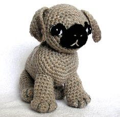 Free Crochet Pug Rug Pattern : Crochet Pug rug Awesome, So cute and Crochet