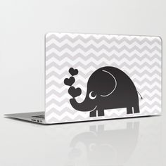 Cute Elephant with 3 hearts