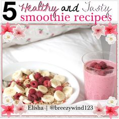 5 healthy and tasty smoothie recipes