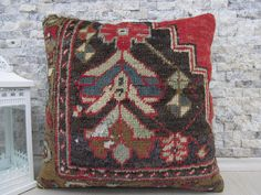 rare turkish rug handmade pillow case 18x18 decorative pillow handmade turkish kilim pillow tribal pillow pillow cover 18x18 throw pillow by ZDkilimspillow on Etsy https://www.etsy.com/listing/521677385/rare-turkish-rug-handmade-pillow-case