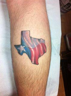 Tattoo shit on pinterest rose tattoos triple ear for Texas flag tattoo
