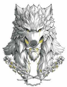 I love Okami Hanzo. Wolf Tattoo Design, Sketch Tattoo Design, Tattoo Sleeve Designs, Sleeve Tattoos, Norse Tattoo, Viking Tattoos, Lion Tattoo, Werewolf Tattoo, Art Drawings Sketches