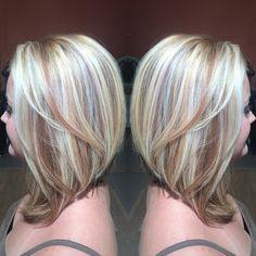 Fall Blonde look Copper Highlights, Blonde Highlights, Hair Inspo, Hair Inspiration, Red Hair, Blonde Hair, Long Bob With Bangs, Fall Blonde, Cute Hair Colors