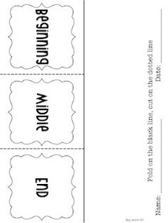 BME- Beginning Middle End Story Retell Foldable Graphic