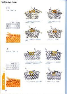 вязание японские журналы - как читать схемы
