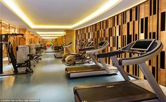 Stay healthy: Cardio and resistance training machines in the hotel's fully equipped gym, because high-powered guests work best after a workout