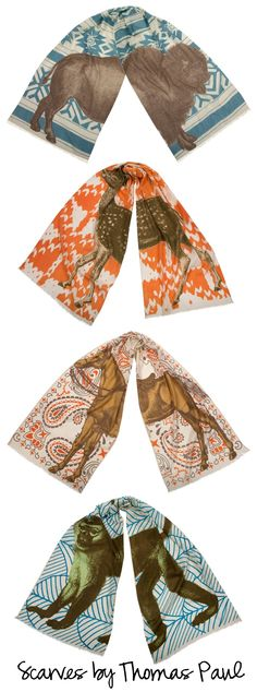 Wow, these animal scarves are amazing! How clever! {thomas paul}