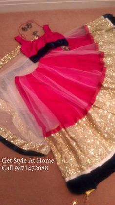 Pink Lehenga With Sequece Border. Call/Whatsapp 9871472088 For Details