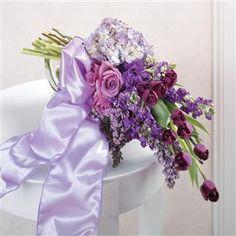 Purple Mixed Bridal Bouquet