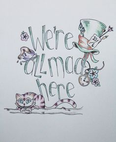 We're All Mad Here by mermarie on Etsy