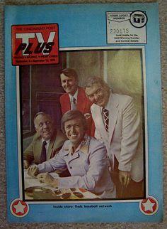 1975 CINCINNATI REDS WLW broadcasters cover of CINCINNATI POST TV PLUS guide by CINCINNATI TV & RADIO HISTORY, via Flickr