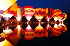 Night glow.   Hot air balloons @ Balluminaria, Eden Park, Cincinnati, OH
