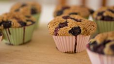 Delicious gluten free blueberry muffins with a hint of lemon. These gluten free muffins are real old fashioned made from scratch goodness. Gluten Free Blueberry Muffins, Healthy Muffins, Blue Berry Muffins, Blueberry Breakfast, Breakfast Recipes, Good Food Image, Chocolate, Gluten Free Recipes, Bread Recipes