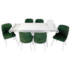 Set masa living Vegas Alba cu scaune de culoare verde Living, Outdoor Furniture Sets, Outdoor Decor, Dining Table, Doors, Home Decor, Green, Decoration Home, Room Decor