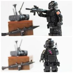 Hope you guys enjoy I will be cleaning up his pouches from the superglue and by the way I'm improving my US support so more figs to come soon! Lego Police, Lego Army, Legos, Nerf Accessories, Lego Soldiers, Lego Guns, Lego Pictures, Battlefield 4, Lego Minifigs