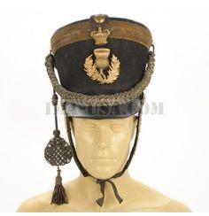 Original British 1816 Regency Period Officer Shako of the Royal Scot's Fusiliers ima-usa.com