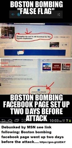 MSN Debunks 'Facebook Page' set up before the Boston Bombing' theory
