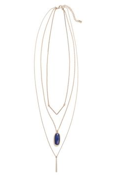 Free shipping and returns on BP. Stone Layering Necklace at Nordstrom.com. A golden chevron and sleek bar charm perfectly complement the cobalt-hued stone on a layering necklace that's equal parts boho and chic.