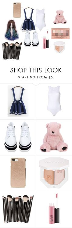 """""""cute?"""" by nekogirl13 on Polyvore featuring WithChic, STELLA McCARTNEY, Charlotte Simone, Kate Spade, Maybelline and Puma"""