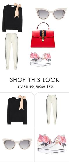 """Love style"" by phamthuquynh on Polyvore featuring Valentino, Elie Saab, Fendi, Converse and Gucci"