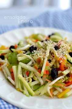 Ensalada Enero. Salads. Healthy Food.