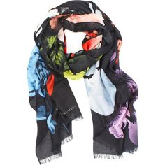 Jonathan Saunders Cashmere Mix Peony Scarf ($410) ❤ liked on Polyvore