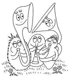 Barbapapas Art & Music-themed Colouring Pages Free Coloring Sheets, Colouring Pages, Coloring Pages For Kids, Kids Story Books, Music Classroom, Teaching Music, Elementary Art, Art Music, Orchestra