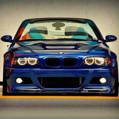 BMW E46 M3 blue cabrio stance
