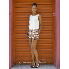 #estilismo ideal para verano #camiseta y #shorts #print animal de @cuasiperfecta #collar de @veranavarrohandmade