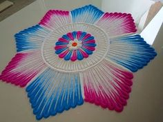 Very simple and beautiful rangoli Easy Rangoli Designs Videos, Rangoli Designs Latest, Colorful Rangoli Designs, Rangoli Designs Diwali, Rangoli Designs Images, Diwali Rangoli, Beautiful Rangoli Designs, Mehandi Designs, Rangoli Colours
