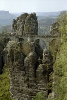 Elevated Bastei bridge, Germany