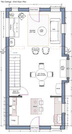 Design Manifest: Cottage Talk: First Floor Plan