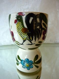 Vintage Rooster Double Egg Cup Made in by BonniesVintageAttic, $8.50