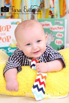 Three month old baby photography, Dr. Seuss photography