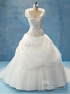 Wholesale 2011 New arrvial hot sale Wedding dresses Strapless Organza floor length Wedding Dress DSN006, $246 incl. delivery to SA | DHgate. Don't know if I like the under layer of the skirt, but very pretty and romantic