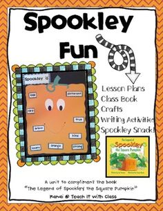 The Legend of Spookley the Square Pumpkin {book study}