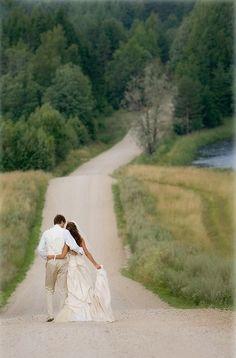 10. The Walk - 44 #Amazing Wedding Photography #Ideas to Copy ... → Wedding #Wedding