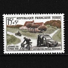 Citroen-2-CV-Fourgonette-Distribution-Postale-Motorisee-1958