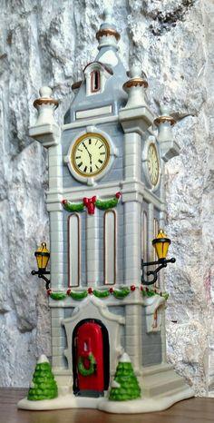 City Clock Tower  Department 56 Christmas In The City -BUYER GUARANTEE  | eBay Christmas In The City, Department 56, Villas, Big Ben, Tower, Clock, Building, Travel, Ebay
